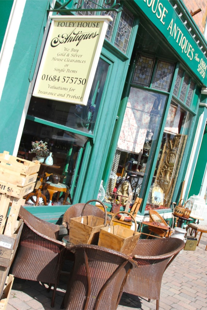 Antique shop in Malvern, Worcestershire, England