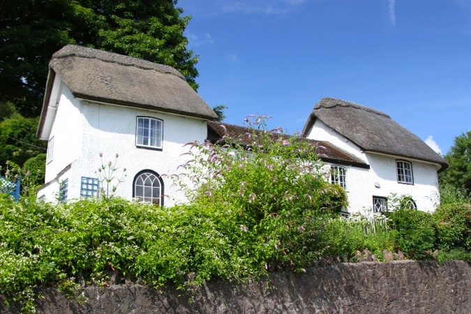 Thatched house in Malvern, Worcestershire, England