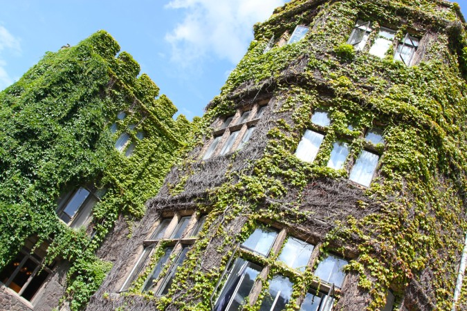 Ivy covered hotel, Malvern, Worcestershire, England