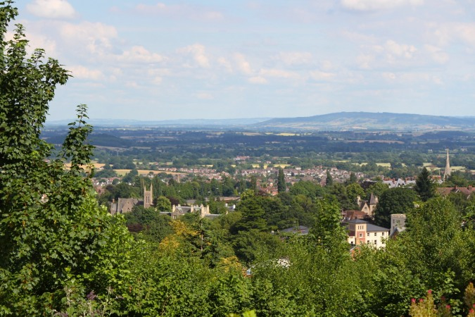 View over Malvern, Worcestershire, England