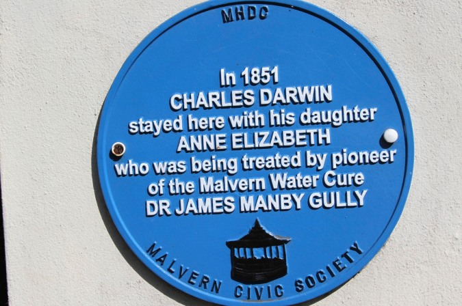 Plaque to Charles and Anne Darwin, Malvern, Worcestershire, England