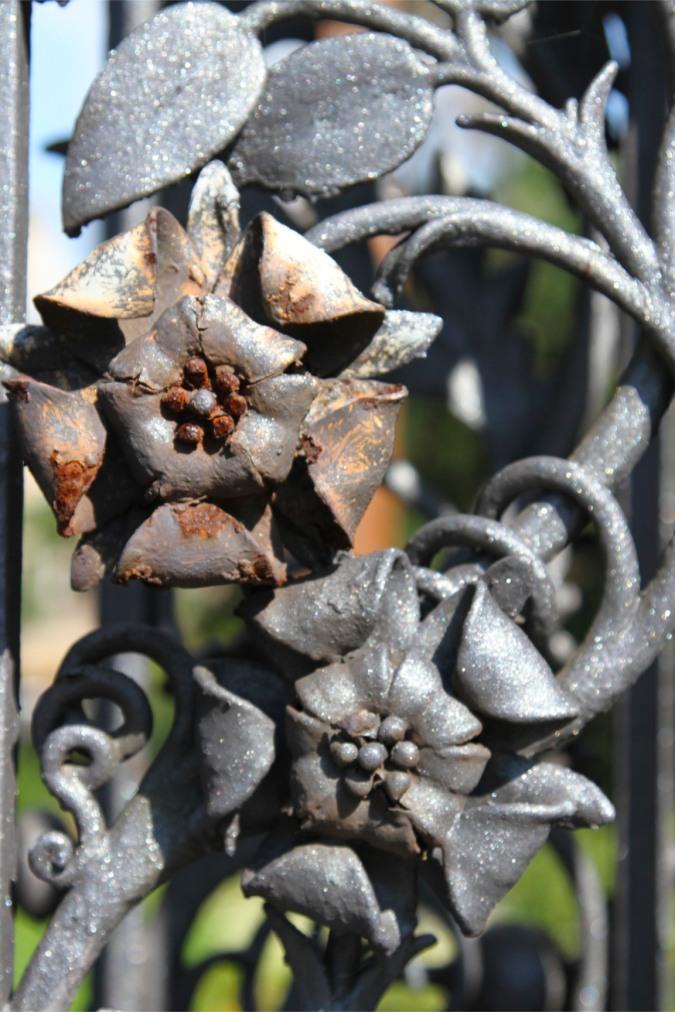 Detail of a gateway. Malvern, Worcestershire, England