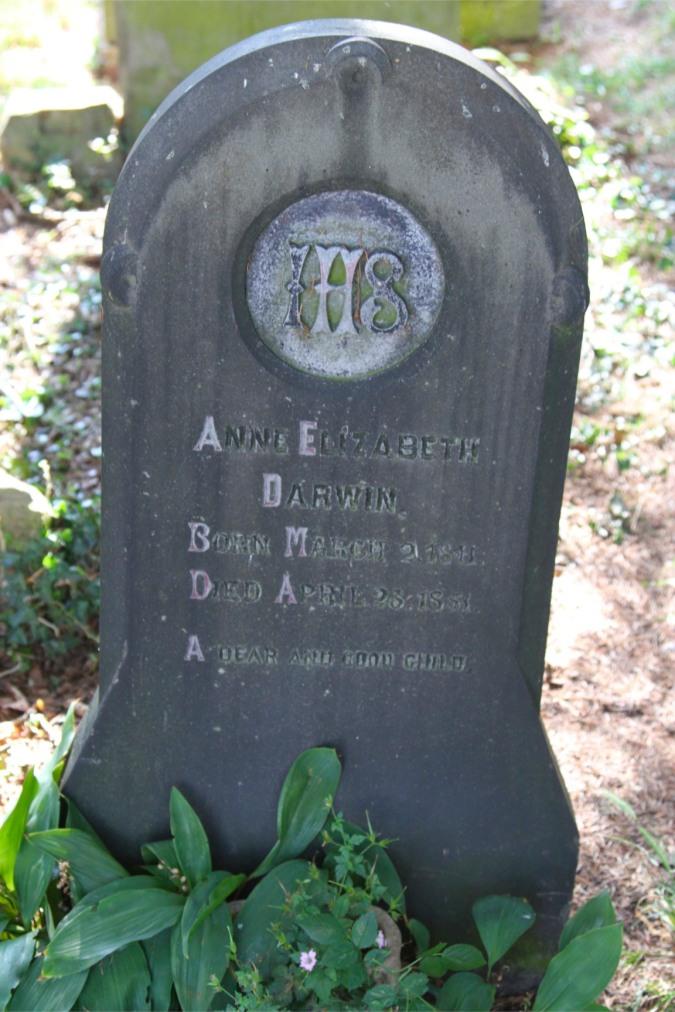Anne Darwin's grave, Malvern Priory, Malvern, Worcestershire, England