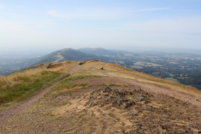 View towards British Camp from the Worcestershire Beacon, Malvern Hills, Worcestershire
