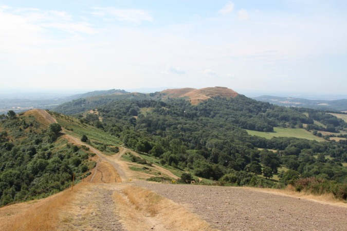 View of British Camp from Pinnacle Hill, Malvern Hills, Worcestershire