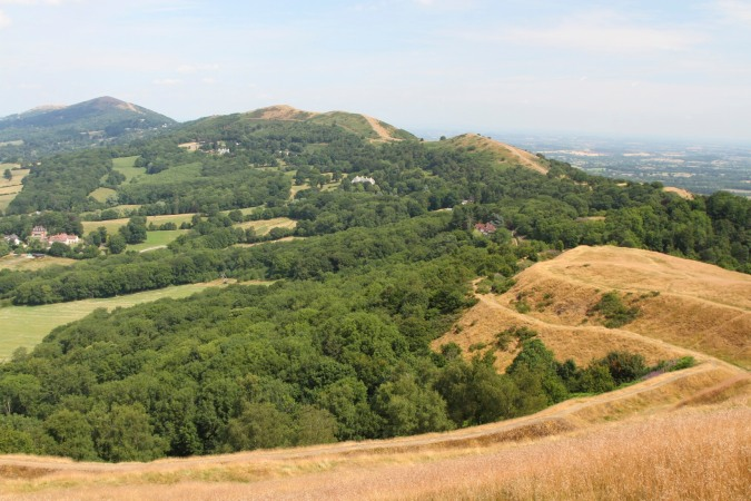 View north from British Camp, Malvern Hills, Worcestershire