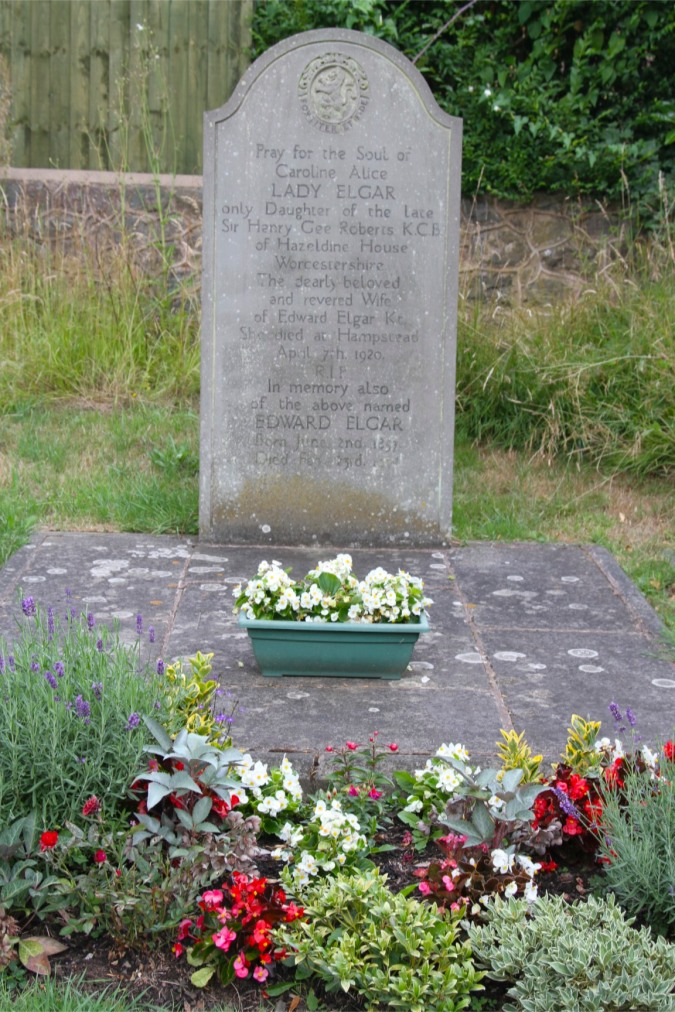 The grave of composer Edward Elgar, Little Malvern, Worcestershire, England