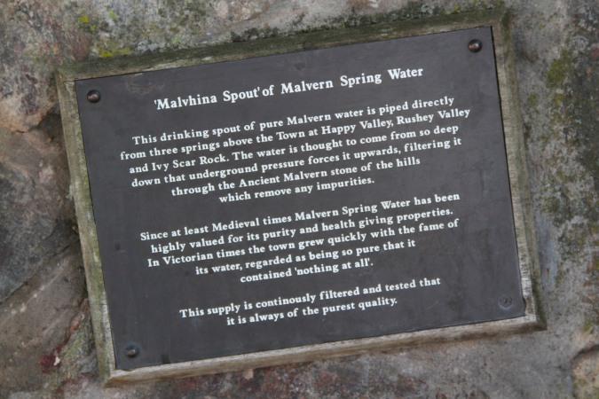 Malvhina water spring, Malvern, Worcestershire, England