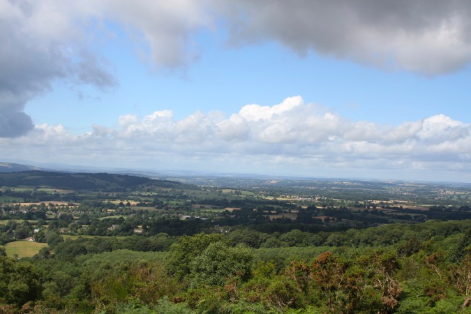 Herefordshire seen from the Malvern Hills, Worcestershire, England