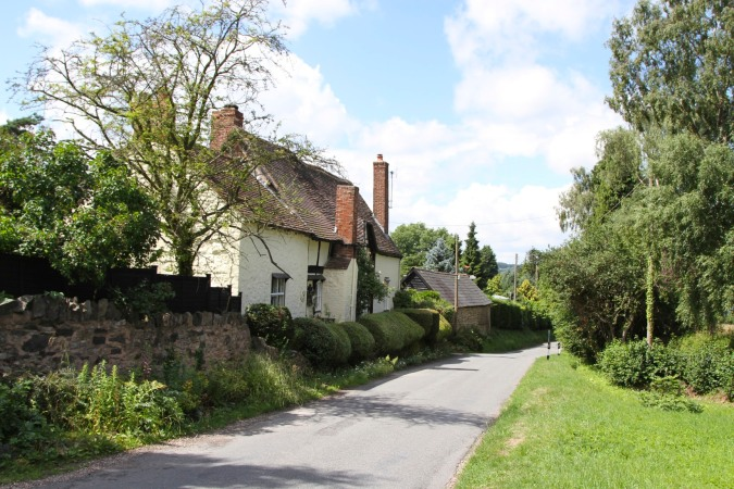 The village of Evendine, Herefordshire, England