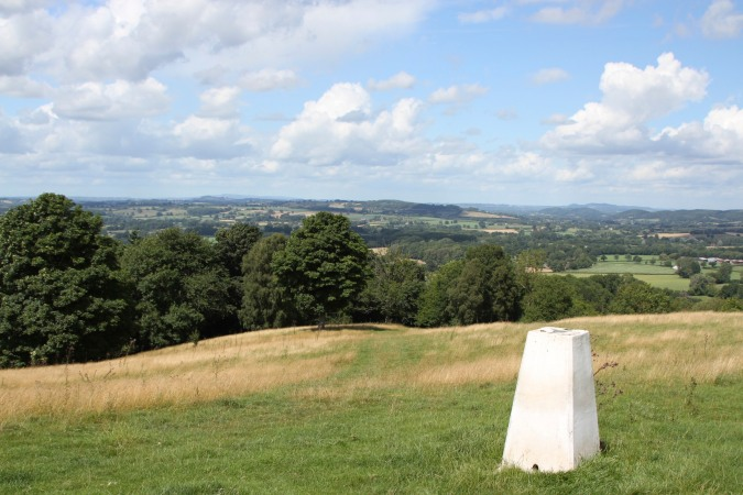 The view towards Wales from Oyster Hill, Herefordshire, England