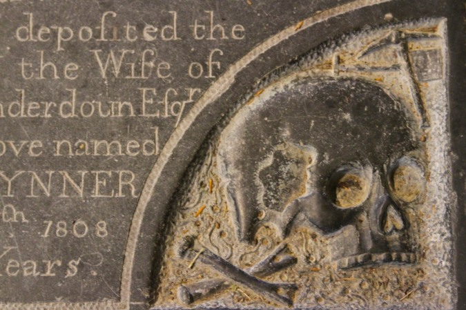 Detail from a tomb in St. Michael and All Angels, Ledbury, Herefordshire, England