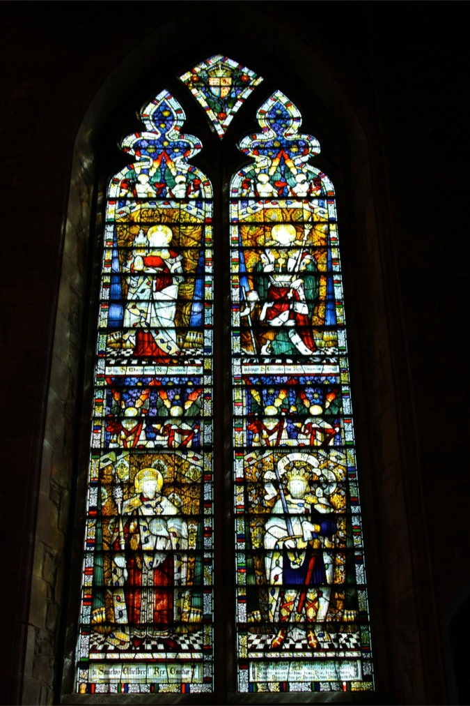 Stained glass window, St. Michael and All Angels Church, Ledbury, England