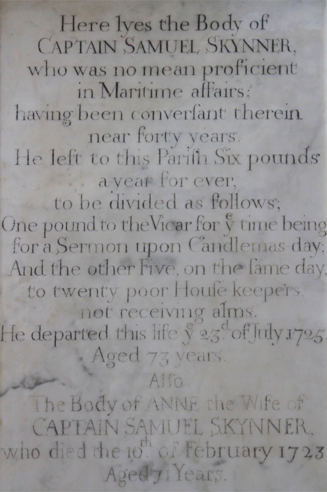Memorial to Captain Skynner, St. Michael and All Angels Church, Ledbury, England