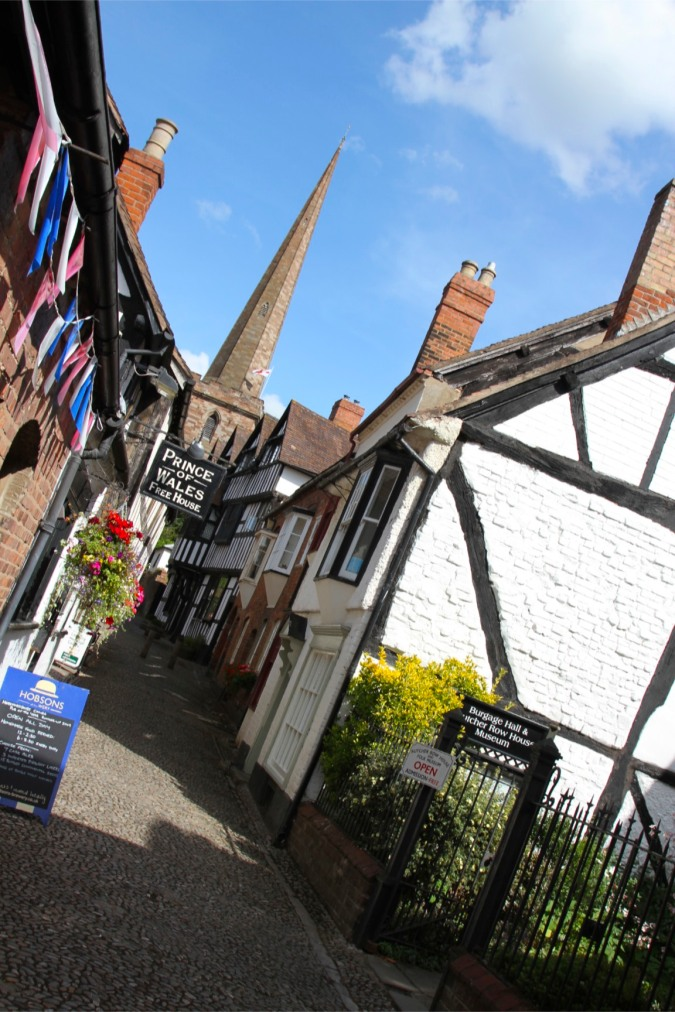 The most photographed alleyway in England, Butchers Row, Ledbury, England