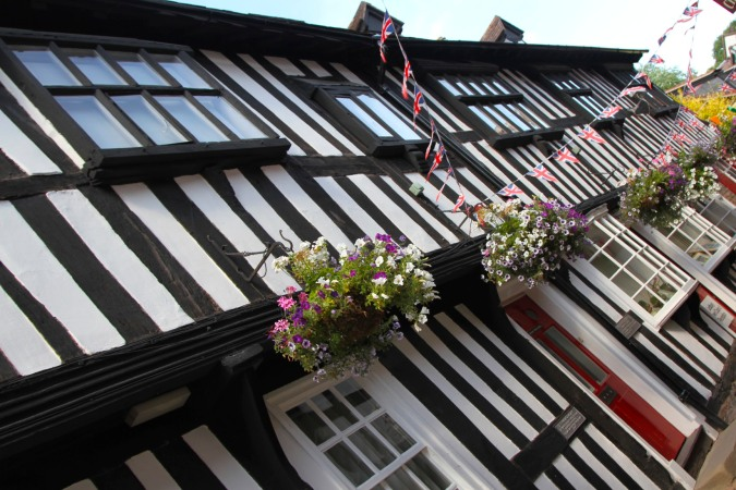 17th century buildings on Butchers Row, Ledbury, England