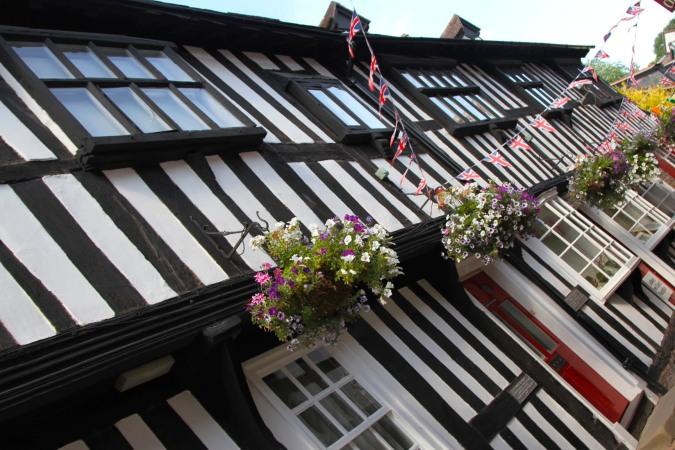17th century buildings on Butchers Row, Ledbury, England