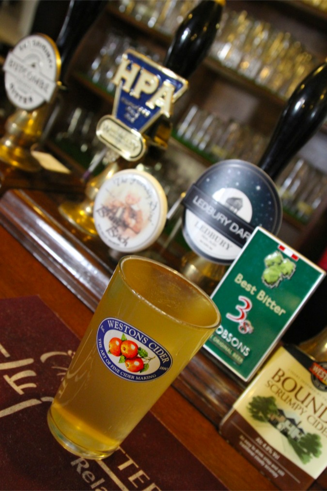 Pint of cider, Ledbury, Herefordshire, England