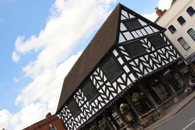 The 17th century Market House, Ledbury, England