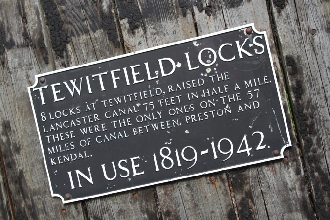 Locks at Tewitfield on the Lancaster Canal, Lancashire, England