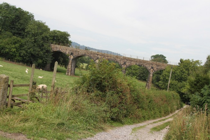 Railway viaduct, Lancaster Canal, Lancashire, England