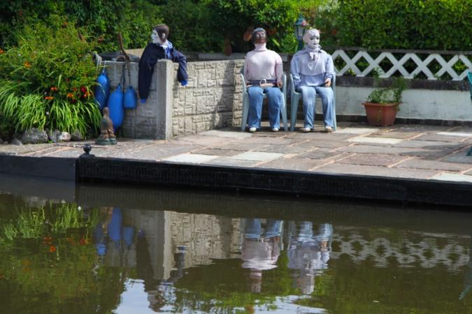 Bizarre art, Lancaster Canal, Lancashire, England