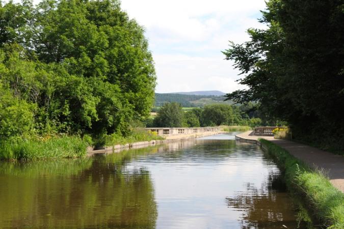 John Rennie's Lune Aqueduct, Lancaster Canal, Lancashire, England