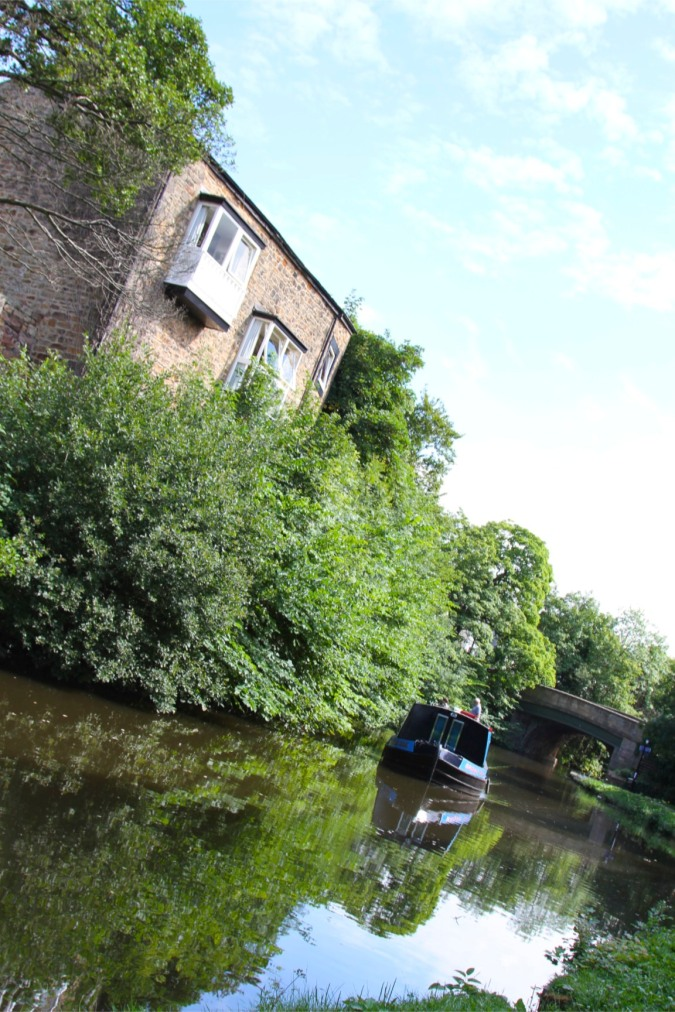 Canal-side mill, Lancaster Canal, Lancashire, England