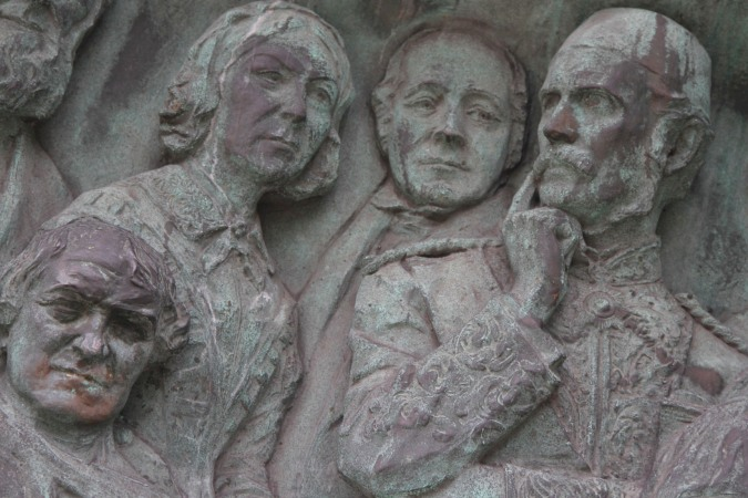 Florence Nightingale, Franklin and General Gordon in relief, Lancaster, Lancashire, England