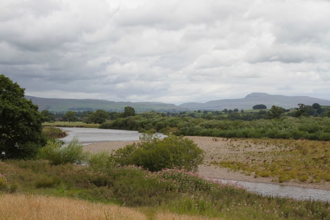 Ingleborough, seen from the Lune Valley Ramble, Lancashire, England