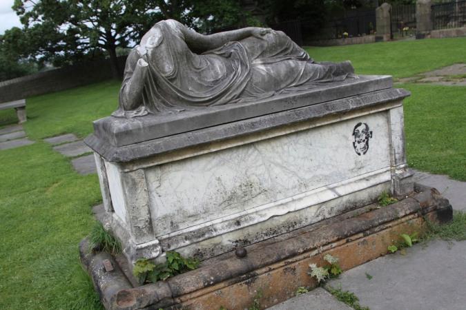 Headless memorial, Lancaster Priory, Lancashire, England