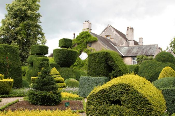 Levens Hall topiary garden, Levens, Cumbria, England