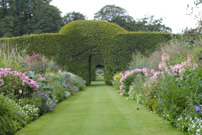 Looking toward the Beech Circle, Levens Hall, Levens, Cumbria, England
