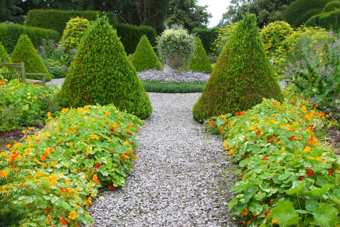 The Herb Garden, Levens Hall, Levens, Cumbria, England