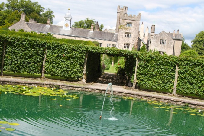 Fountain Garden at Levens Hall, Levens, Cumbria, England