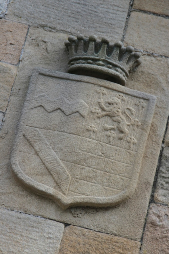 Heraldic shield, SIzergh Castle, Cumbria, England