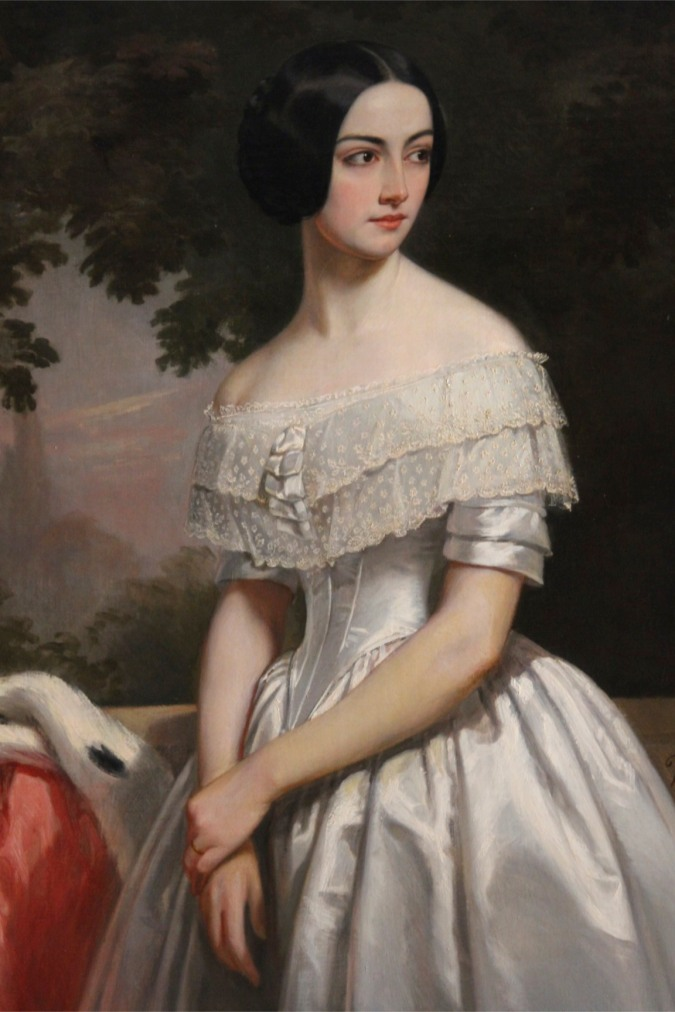 Portrait of Mary Matthews, the great, great grandmother of the current head of the family SIzergh Castle, Cumbria, England