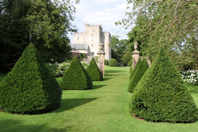 Topiary garden, SIzergh Castle, Cumbria, England