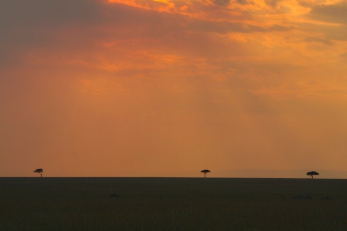 Sunset over the Maasai Mara National Reserve, Kenya