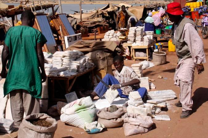 Salt from the Sahara Desert, Mopti, Mali, Africa
