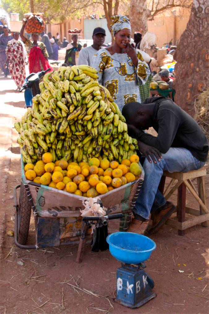 Fruit seller, Mopti, Mali, Africa