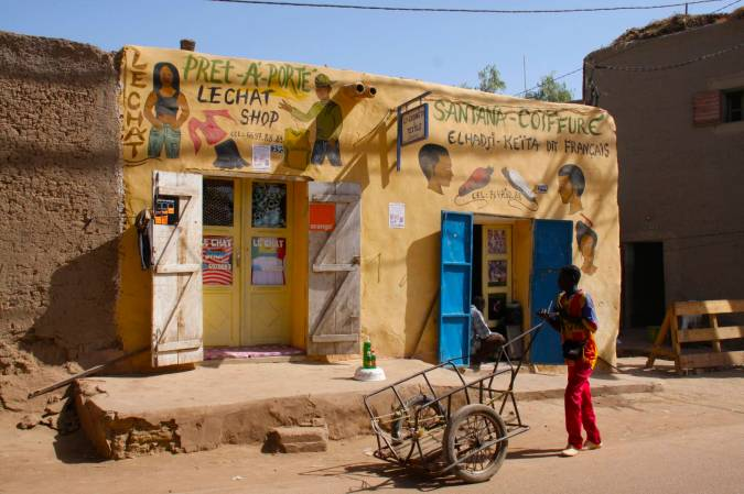 Hair salon, Mopti, Mali, Africa
