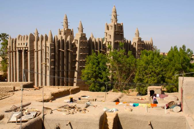 The mosque in Mopti, Mali, Africa