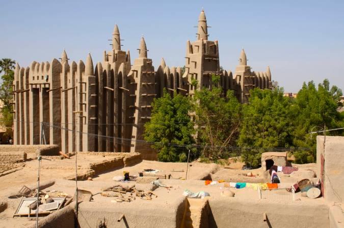 The mosque in Mopti, Mali, Africa