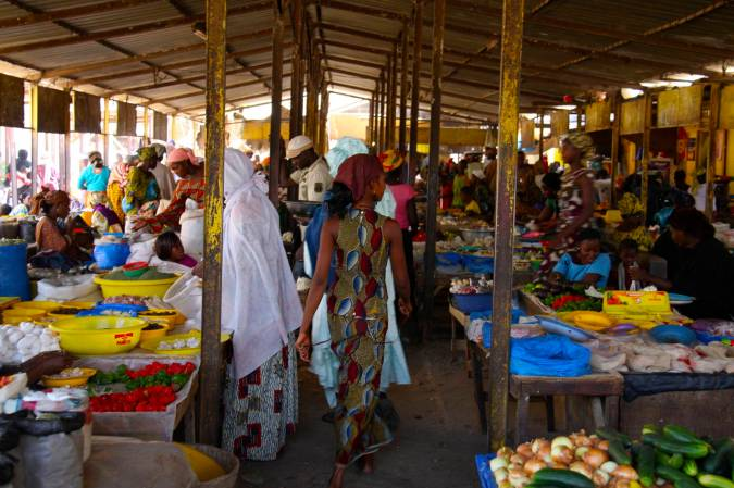 The central market in Mopti, Mali, Africa