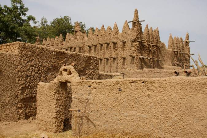 Village mosque, Niger River, Mali, Africa