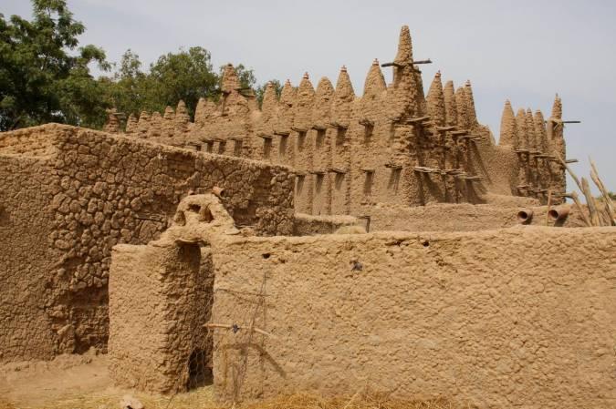 Village mosque, Niger River, Mali, Africa