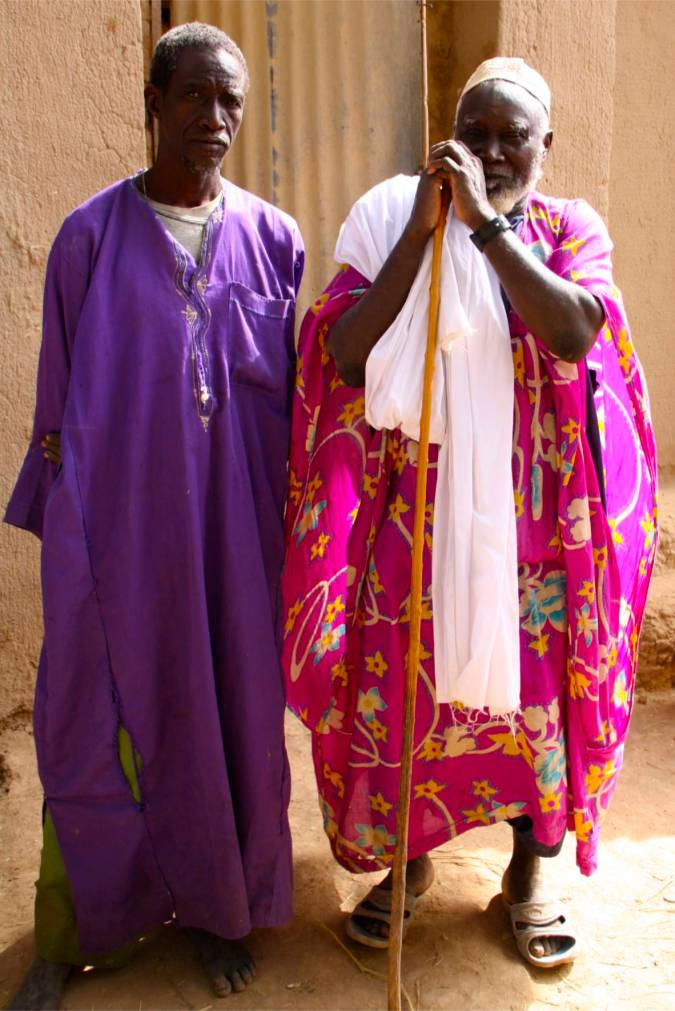 Village Elders greet us, Niger River, Mali, Africa