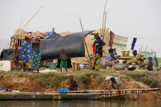 Fishing community, Niger River, Mali, Africa