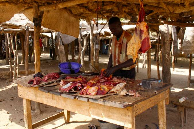 The market in Niafunké, Niger River, Mali, Africa